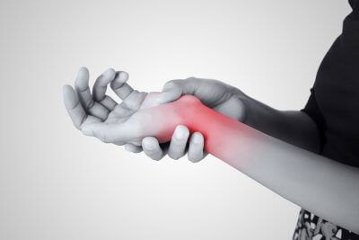 painful and inflamed wrist